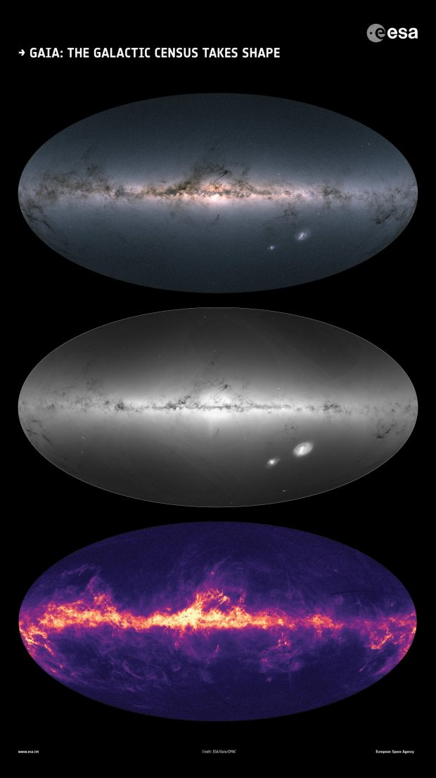 دقیقترین و جامعترین نقشه کهکشان راه شیری منتشر شد