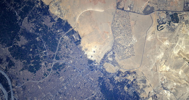 عکس اهرام مصر از فضا بسیاری را شگفتزده کرد