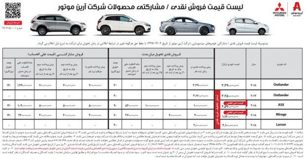 شرایط فروش خودروهای میتسوبیشی
