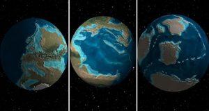 با نقشه سه بعدی تاریخ زمین به گذشته چند صد میلیون ساله سیاره سفر کنید!