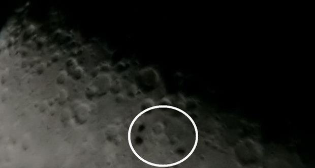 پرواز سه یوفو بین زمین و ماه توسط یک ستاره شناس ثبت شد!