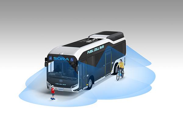 اتوبوس هیدروژنی تویوتا Sora
