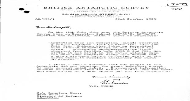 مشاهده یوفو در قطب جنوب