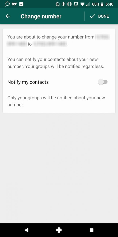 آموزش تغییر شماره تلفن در واتس اپ