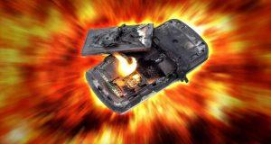 انفجار باتری گوشی