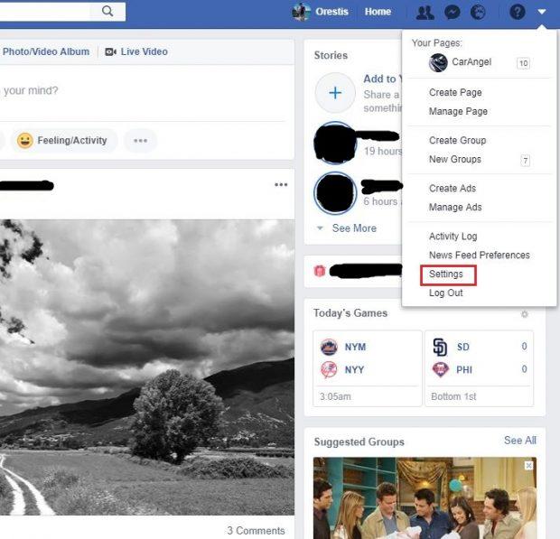 آموزش تغییر نام در فیس بوک
