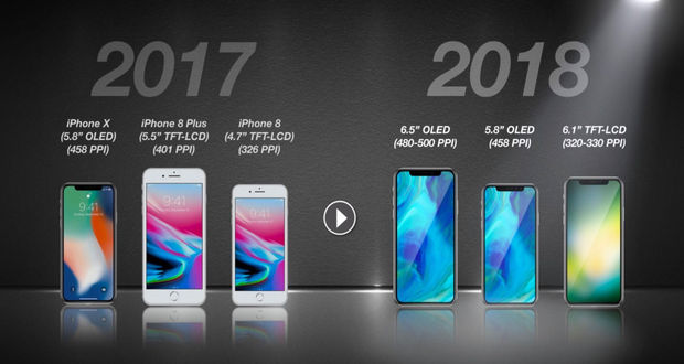 آیفون های سال 2018