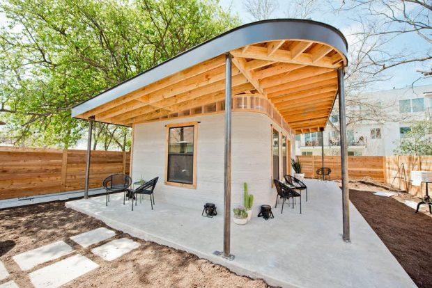 ساخت خانه با پرینتر سه بعدی