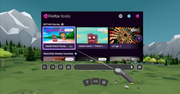 مرورگر Firefox Reality موزیلا