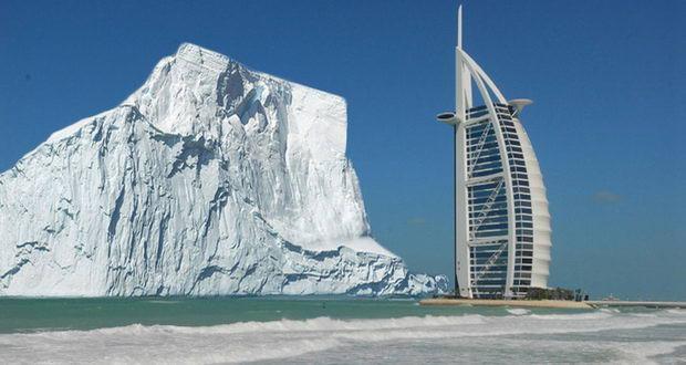 انتقال کوه یخ به دبی برای رفع مشکل کم آبی در این شهر!