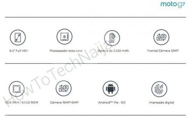 مشخصات گوشی موتو جی 7