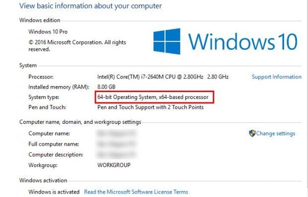 تفاوت ویندوزهای 64 بیت و 32 بیت