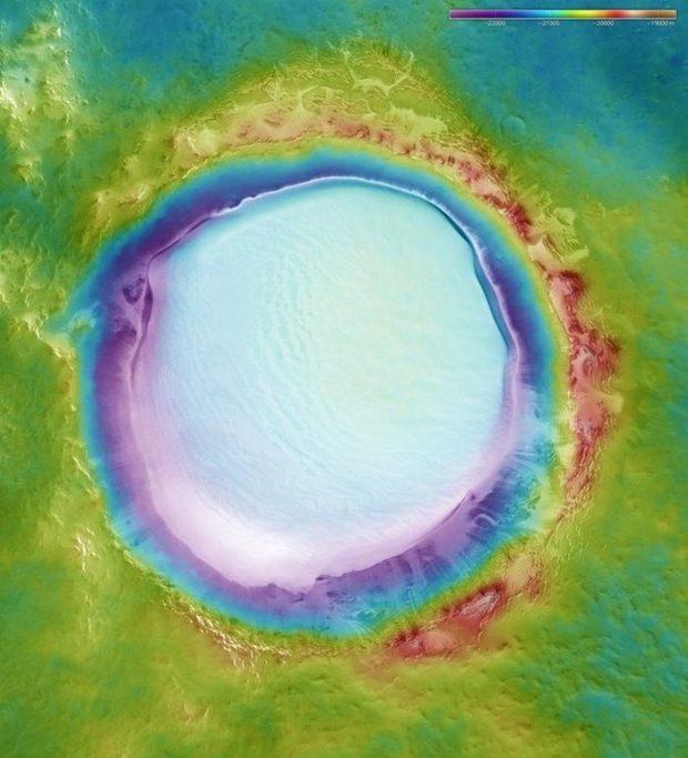 دهانه کارالیوف مریخ