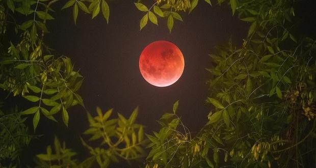 زمین تخت گرایان پدیده ماه گرفتگی کامل را چگونه توجیه میکنند؟