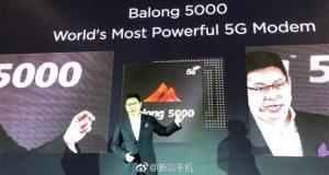 مودم Balong 5000 5G هواوی با حداکثر سرعت ۶.۵ گیگابیت بر ثانیه معرفی شد