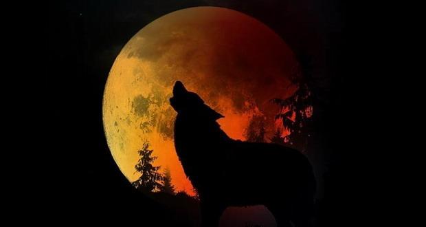 ابر ماه گرگ خونین
