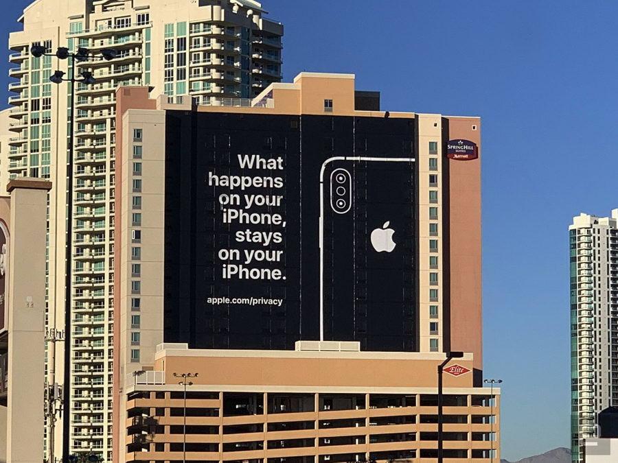 بنر تبلیغاتی اپل برای CES 2019