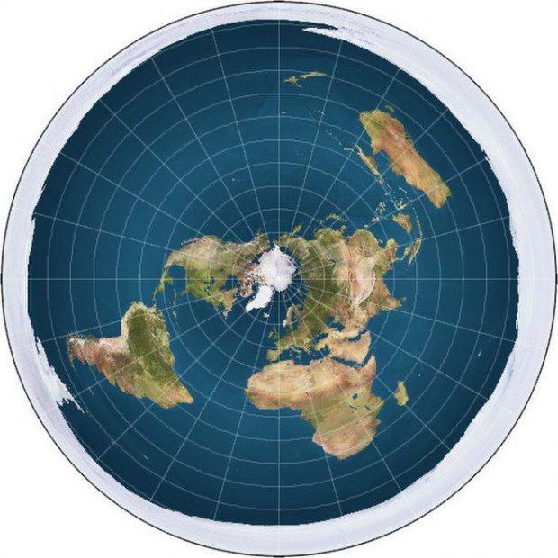 نقشه زمین تخت گرایان