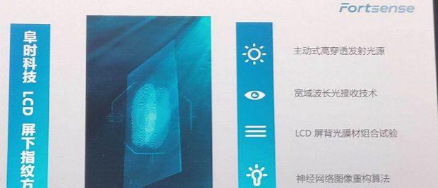 حسگر اثر انگشت زیر LCD