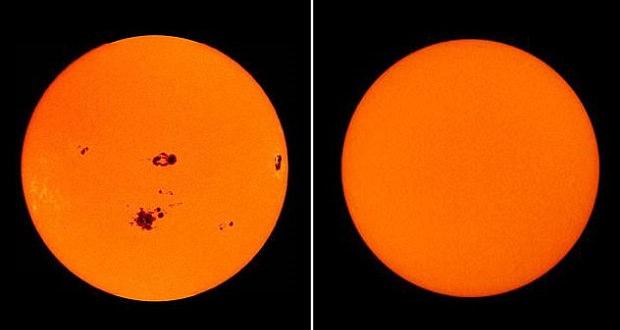 فعالیت های خورشید