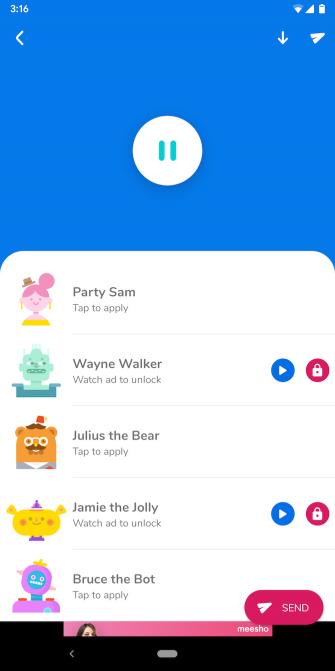 اپلیکیشن تغییر صدا Squeak Voice Changer