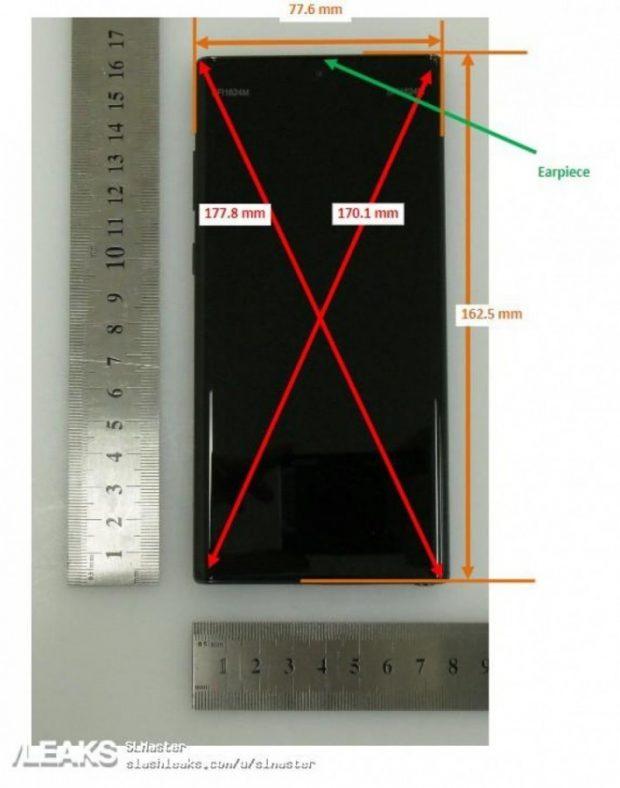 ابعاد بدنه گلکسی نوت 10 پلاس