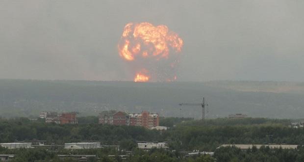 انفجار موشک در روسیه