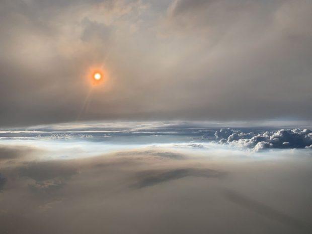 ابر آتشین در واشنگتن