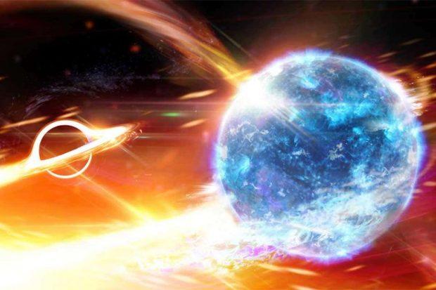 برخوزد ستاره نوترونی با سیاه چاله