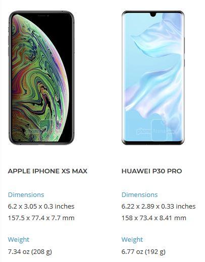 مقایسه هواوی پی 30 پرو و اپل آیفون ایکس اس مکس