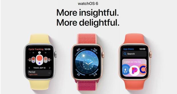 واچ او اس 6 (watchOS 6) برای اپل واچ سری 4 و 3 منتشر شد