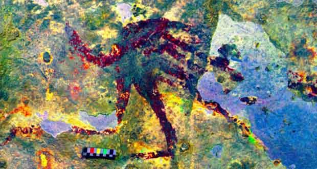 کشف نقاشی 44 هزار ساله با موضوعات ماوراء الطبیعی در اندونزی!