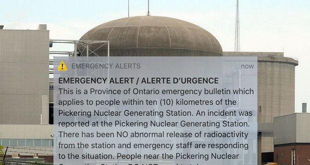 هشدار هسته ای اضطراری میلیونها نفر در کانادا را وحشتزده کرد!