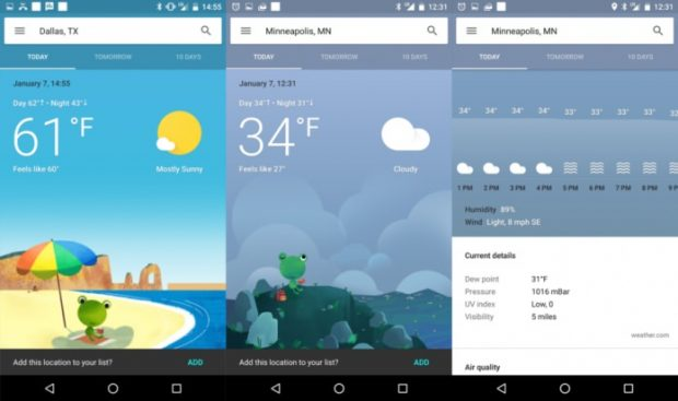 لیست بهترین اپلیکیشنهای هواشناسی