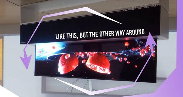 تلویزیون رول شونده 65 اینچی LG در نمایشگاه CES 2020
