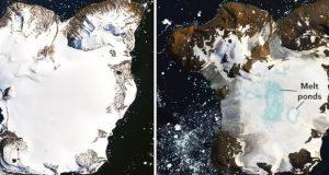 تصاویر جدید و شوکه کننده ناسا آب شدن یخ های قطب جنوب را نشان میدهند!