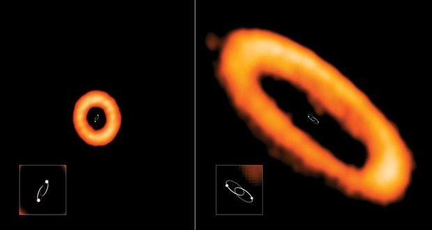 دیسک های گازی ستاره های دوتایی میتوانند زاویههای عجیبی داشته باشند!
