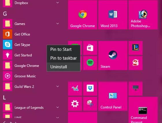 حذف برنامه های پیشفرض ویندوز 10