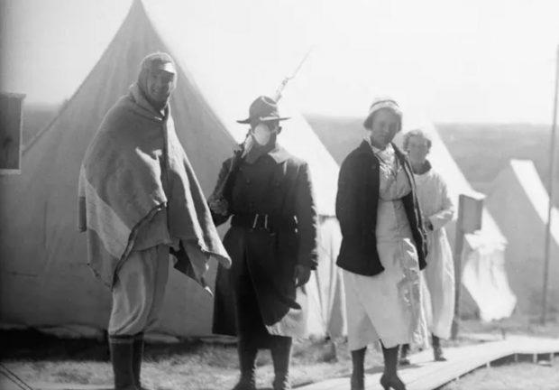 تصاویری دیدنی از وضعیت آمریکا در پاندمی آنفولانزای اسپانیایی