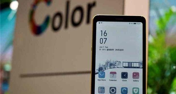 گوشی هوشمند با صفحه نمایش جوهر رنگی