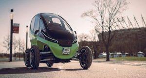 ترکیبی از اتومبیل و موتورسیکلت در خودرو الکتریکی تریگو