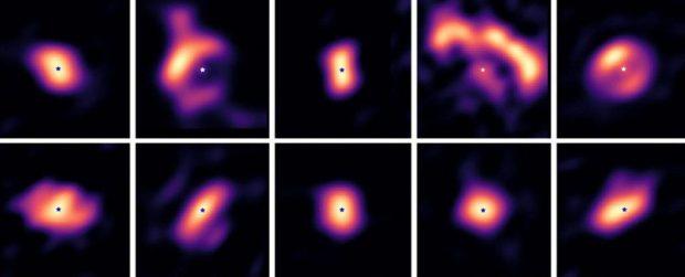 فرآیند به وجود آمدن سیاره ها در تصاویری دیدنی به ثبت رسید