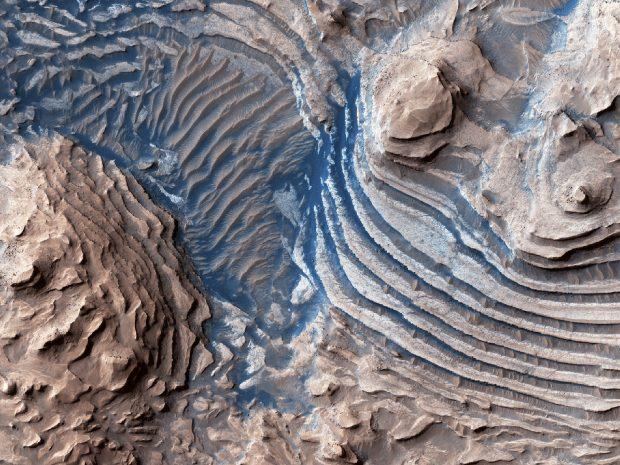 مجموعهای از تصاویر مناظر شگفتانگیز و زیبای سیاره مریخ