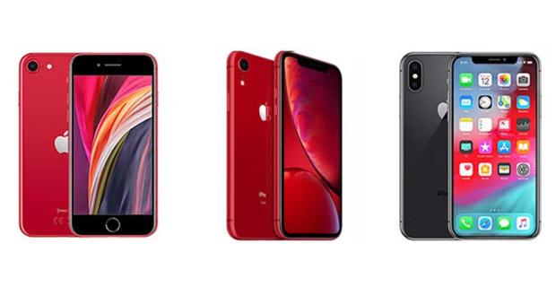 مقایسه آیفون SE 2020 با آیفون XR و آیفون XS اپل