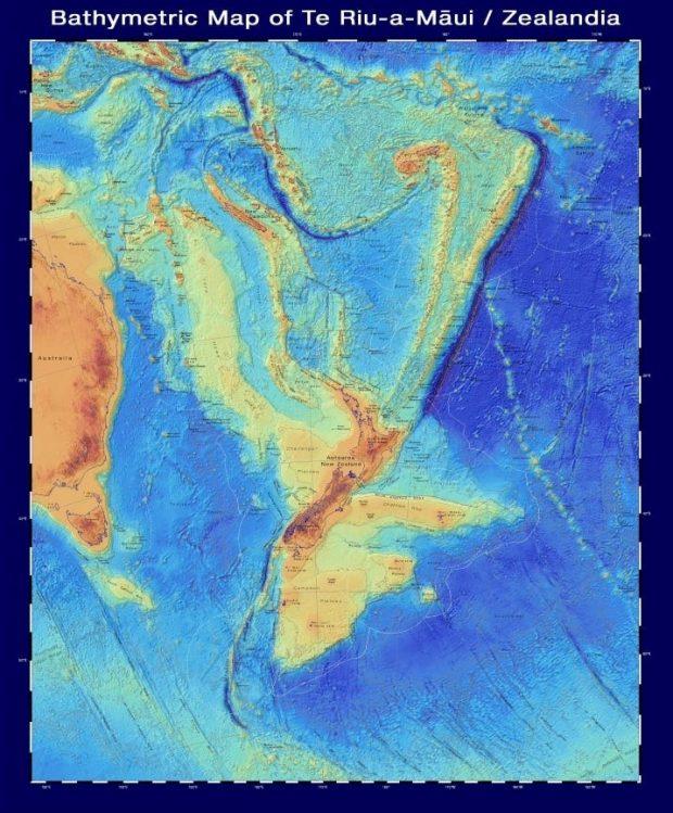 ابعاد و شکل اصلی قاره گمشده زیلندیا مشخص شد