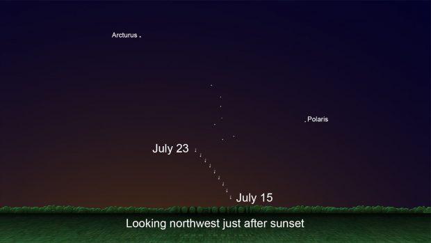 توصیههای ناسا برای تماشای دنبالهدار زیبای نئووایز در روزهای اخیر