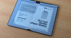 تازهترین ورژن دفترچه الکترونیکی تاشو E Ink معرفی شد+ویدیو