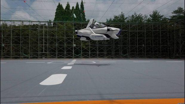 خودرو پرنده SkyDrive SD-03 با موفقیت به پرواز در آمد + ویدیو