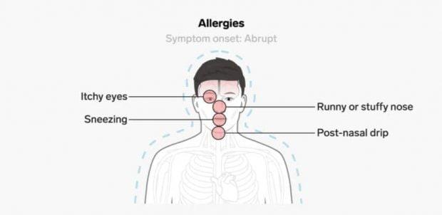 علائم کووید 19 چه تفاوتی با حساسیتهای فصلی، سرماخوردگی و آنفولانزا دارند؟