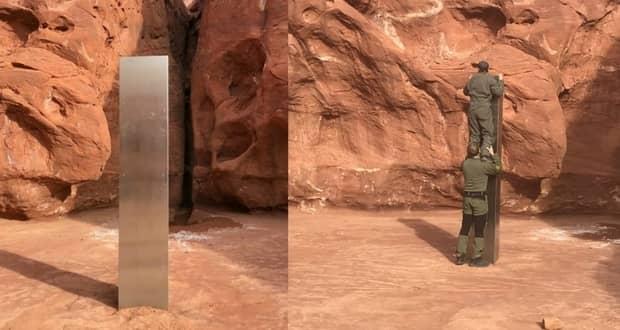 کشف یک ستون فلزی عجیب و مرموز در بیابانهای آمریکا – بررسی سردبیر